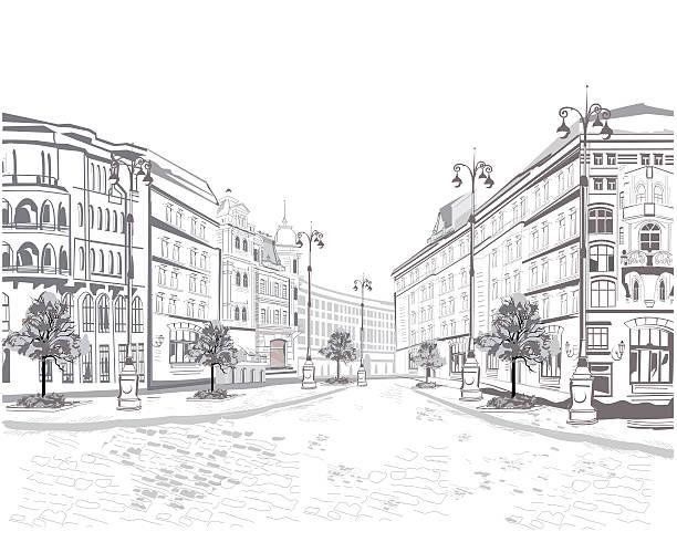 bildbanksillustrationer, clip art samt tecknat material och ikoner med series of street views in the old city. - paris