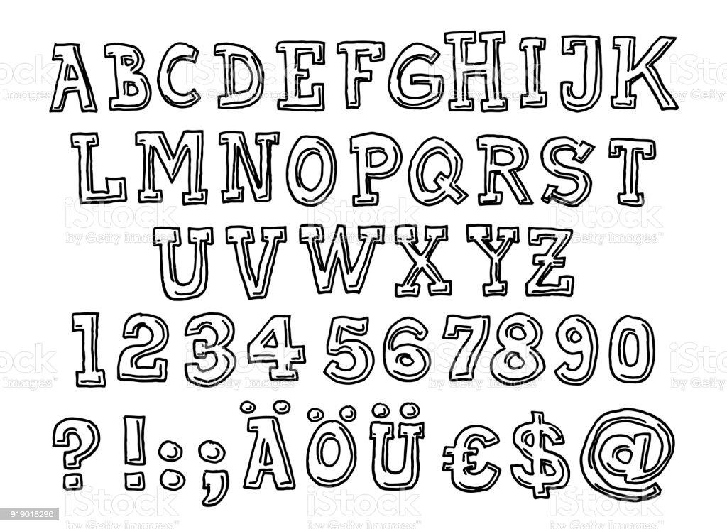 La Valeur Serif Alphabet Lettre Dessin Vecteurs libres de ...