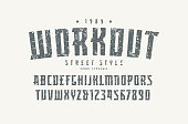 Serif font in the sport style