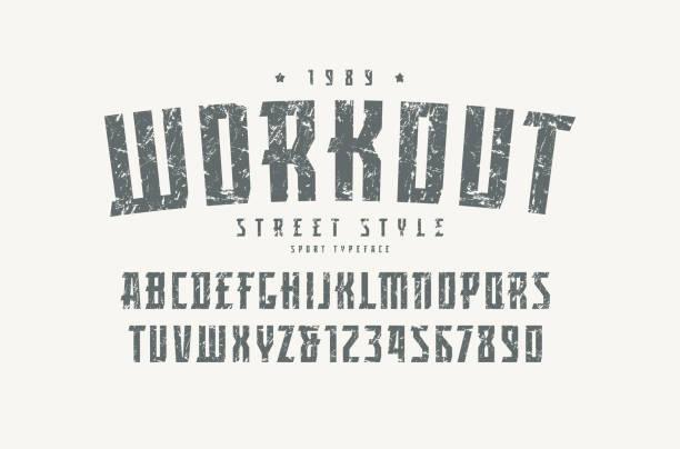 運動風格的襯線字體 - 運動員 幅插畫檔、美工圖案、卡通及圖標