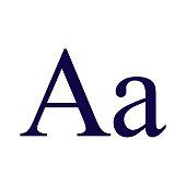 istock Serif Typeface Icon on Transparent Background 1284470790