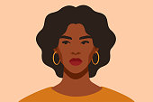 istock Serious Black girl is looking away in protest. African female with arrogant facial expression. 1271785318
