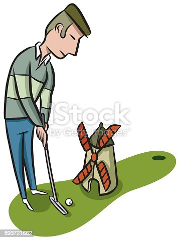 30 Cartoon Mini Golf Illustrations Royalty Free Vector Graphics Clip Art Istock