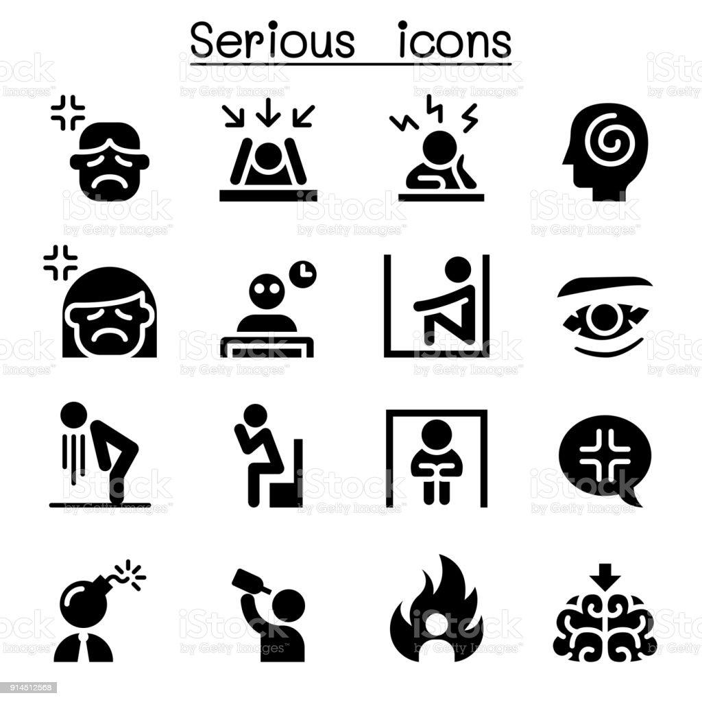 深刻なアイコン セット - アイコンのベクターアート素材や画像を多数ご ...