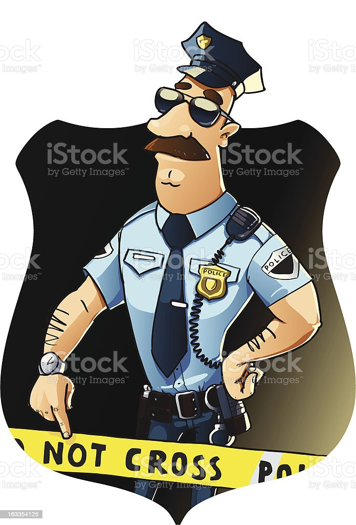 serious police officer royalty-free serious police officer stock vector art & more images of adult