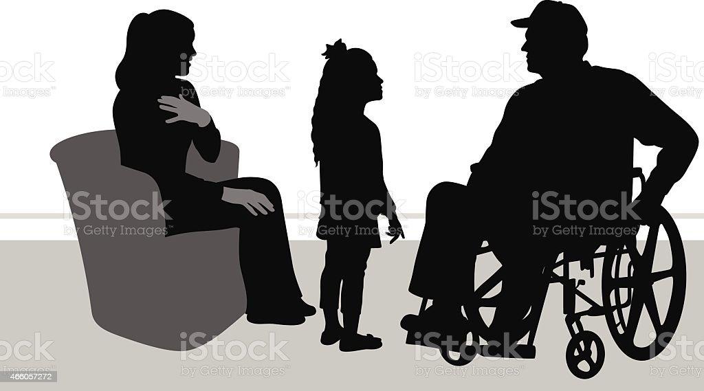 Image result for disabled veteran illustration