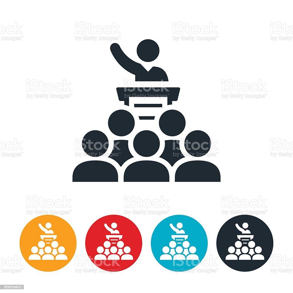 Sermon Icon vector art illustration