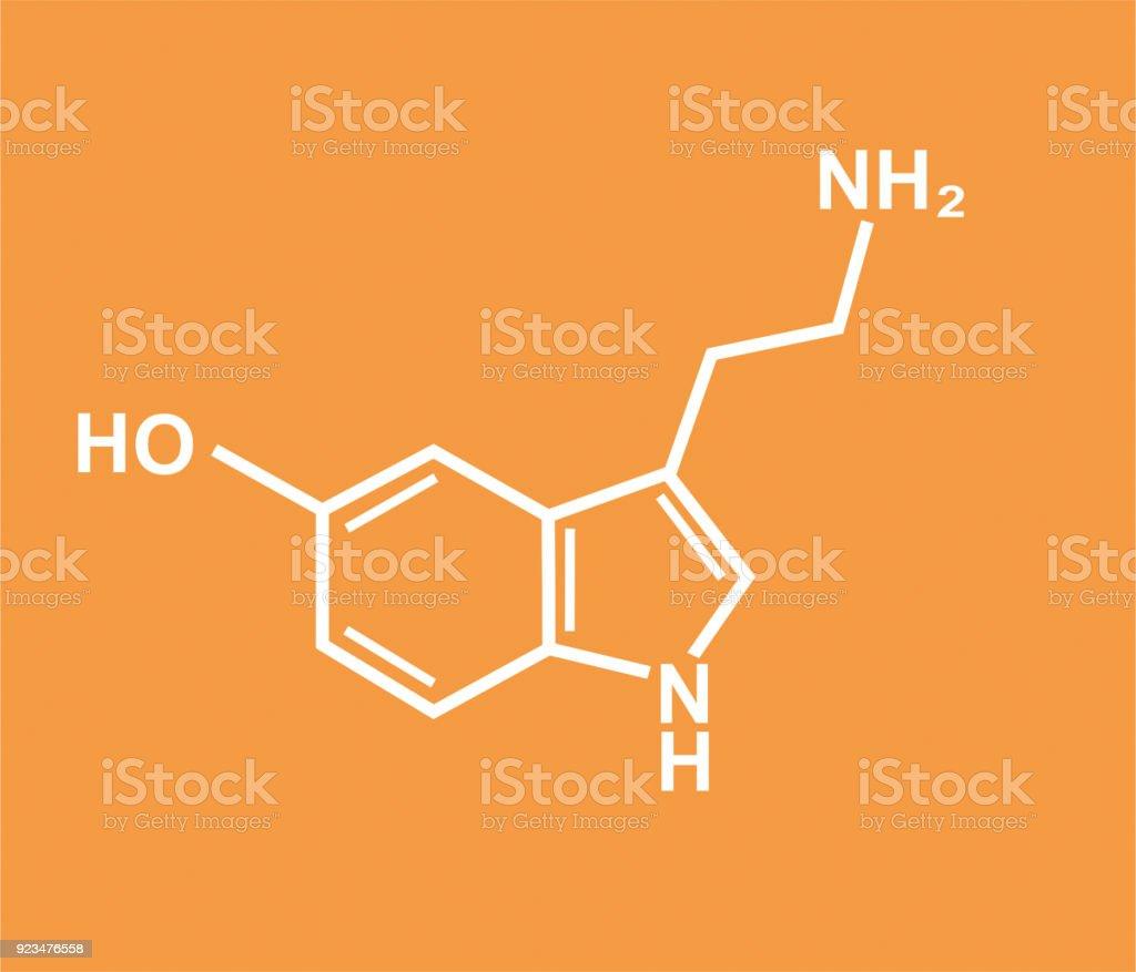 Serotonin molecule vector illustration vector art illustration