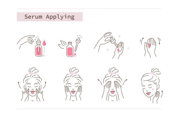 ilustraciones, imágenes clip art, dibujos animados e iconos de stock de suero - personas bellas