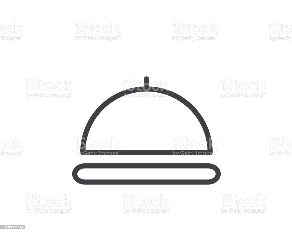Servir Les Aliments Ligne Icône Illustration Vecteur Conception De Cuisine Ligne Icône Illustration Vecteurs Libres De Droits Et Plus D Images
