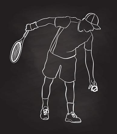 Serve Strike Tennis Player