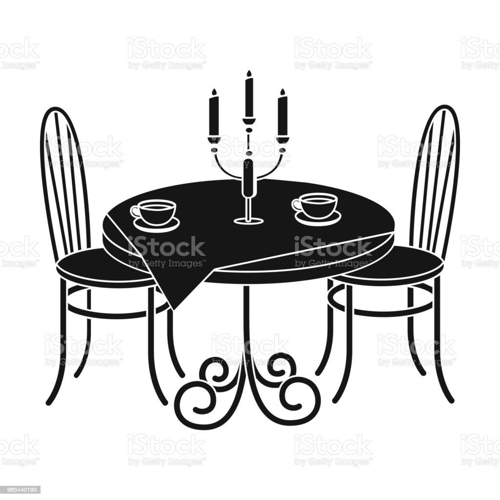 Served table in the restaurant. Furniture single icon in black style Isometric vector symbol stock illustration web. served table in the restaurant furniture single icon in black style isometric vector symbol stock illustration web - stockowe grafiki wektorowe i więcej obrazów filiżanka royalty-free