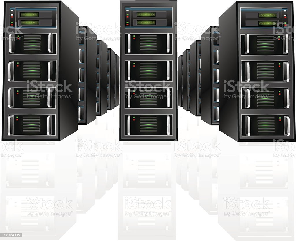 Server Array royalty-free server array stock vector art & more images of aggression