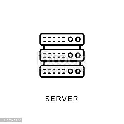 Server Outline Icon - Stroked, Vectors