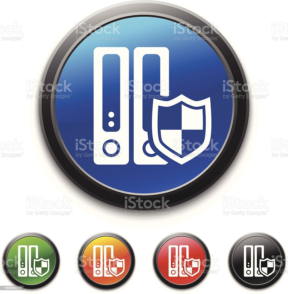 Server icon royalty-free server icon stock vector art & more images of blue