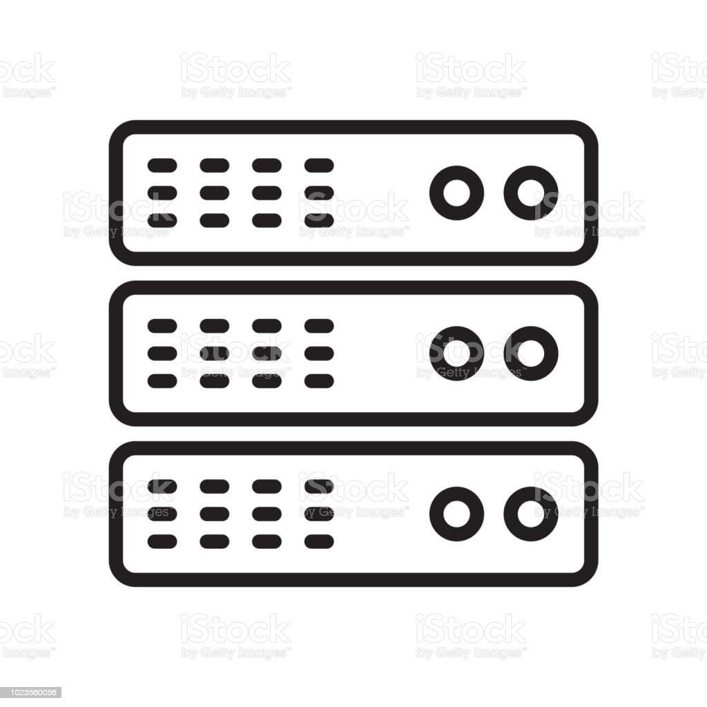 Server Icon Vector Sign And Symbol Isolated On White