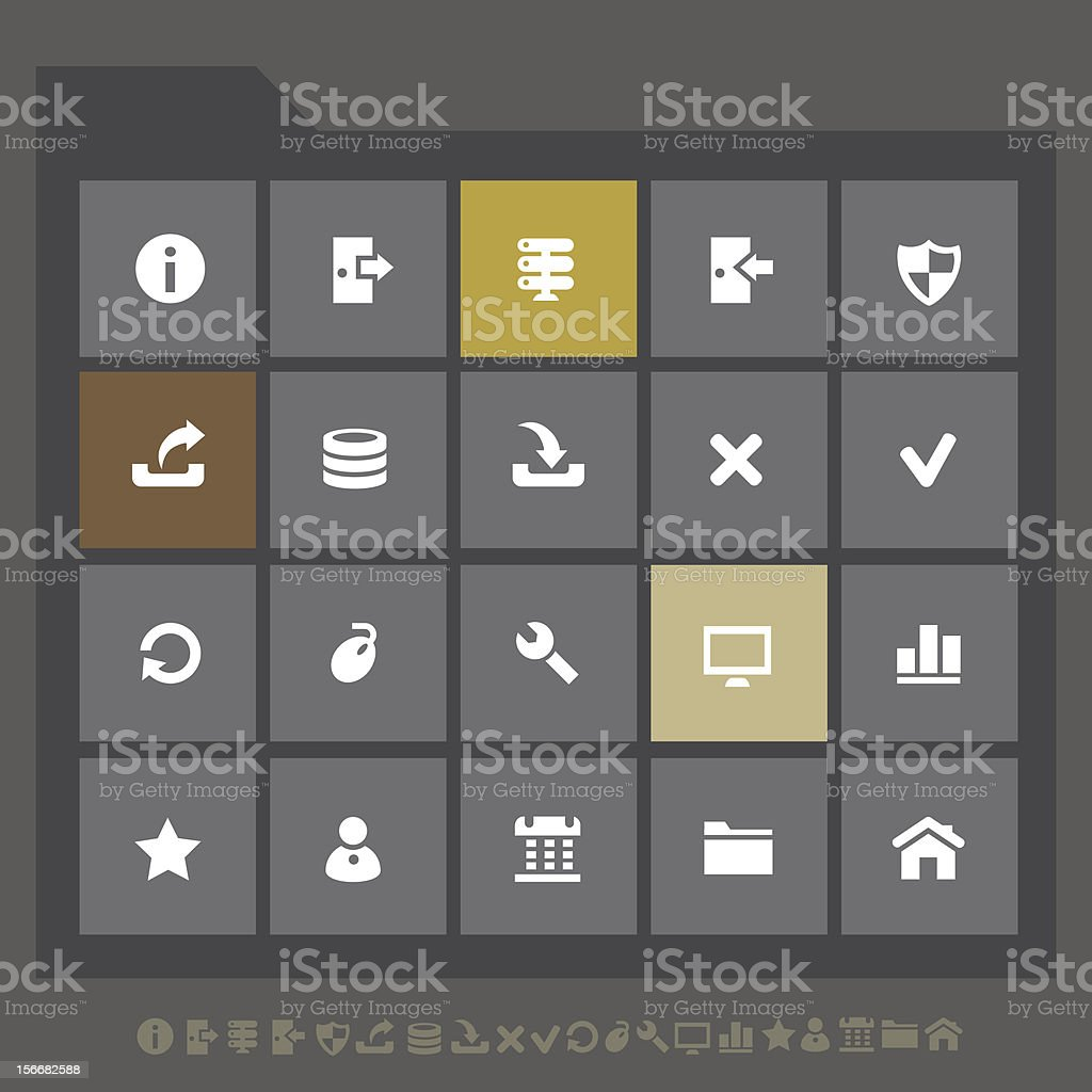 Server icons | Mobile interface royalty-free server icons mobile interface stock vector art & more images of beauty