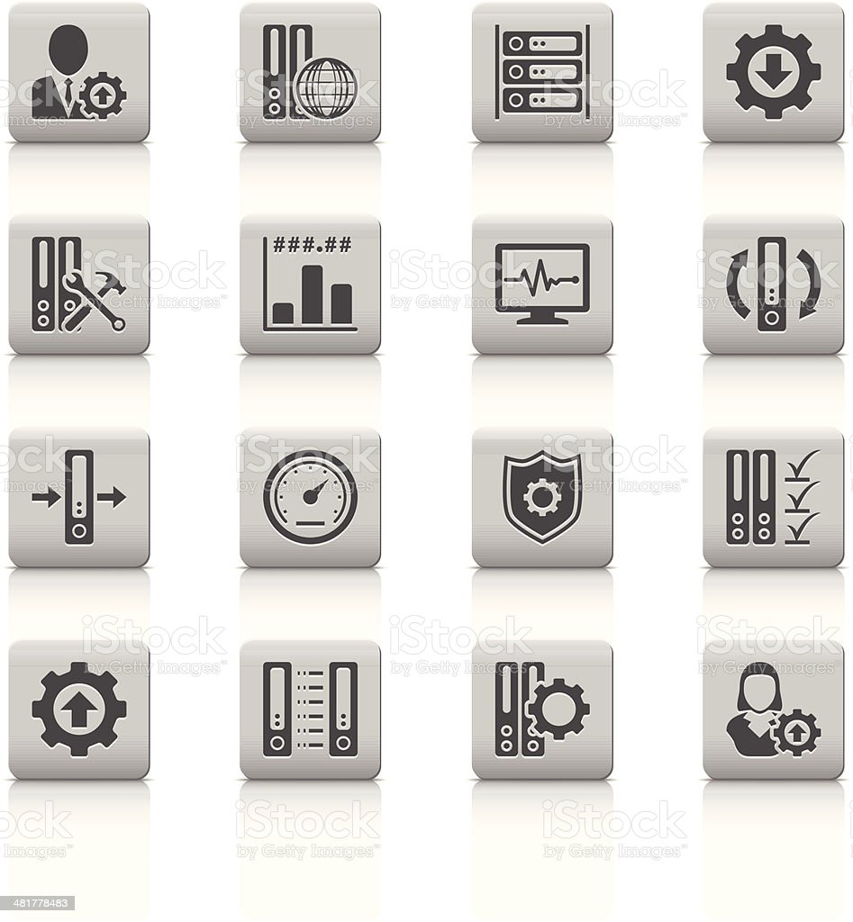 Server icons royalty-free server icons stock vector art & more images of adult