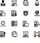A set of simple, black icons for personal and professional projects.