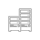istock Server Line Icon 1271789420