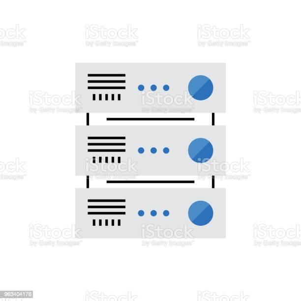 Ikona Monoflat Serwera - Stockowe grafiki wektorowe i więcej obrazów Ilustracja