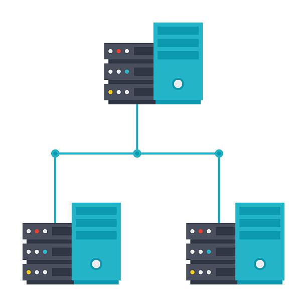 stockillustraties, clipart, cartoons en iconen met server network icon - netwerkserver