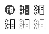 Server Network Icons Multi Series Vector EPS File.