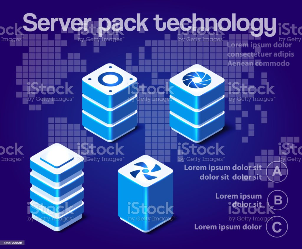 server network technology royalty-free server network technology stock illustration - download image now