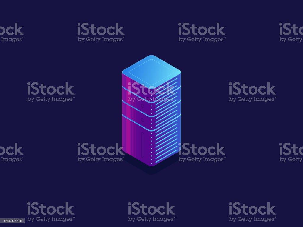 Server room, cloud data storage, data center database, technology blocks, digital science isometric server room cloud data storage data center database technology blocks digital science isometric - stockowe grafiki wektorowe i więcej obrazów biznes royalty-free