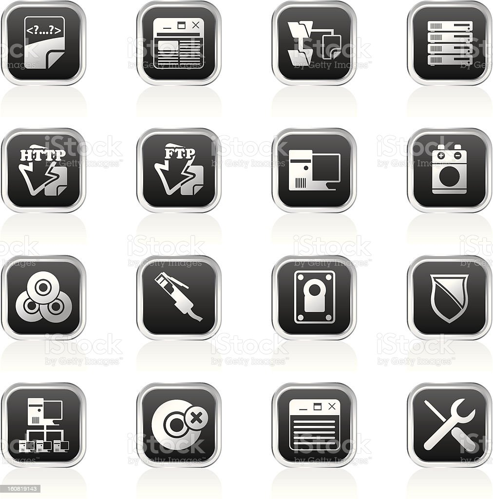 Server Side Computer icons royalty-free server side computer icons stock vector art & more images of battery