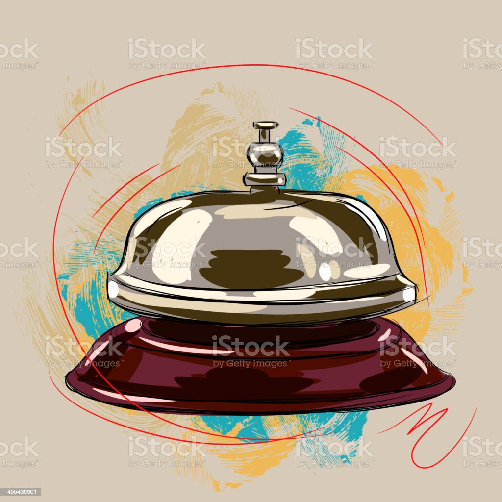 Service Bell royalty-free stock vector art
