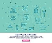 Service Businesses Concept