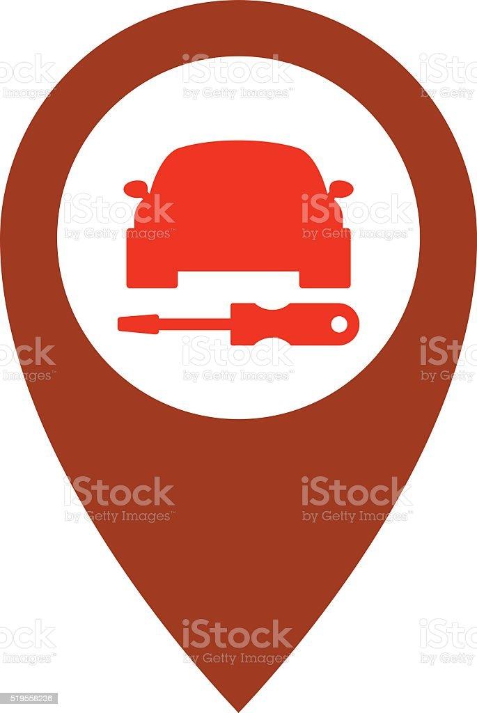 service de voiture de r paration ic ne symbole aide de vecteur de conception automobile. Black Bedroom Furniture Sets. Home Design Ideas
