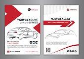A5, A4 service car business layout templates.