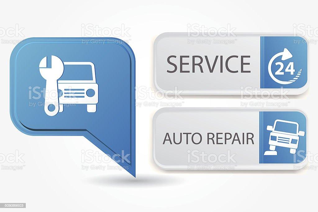 Service car,vector royalty-free stock vector art