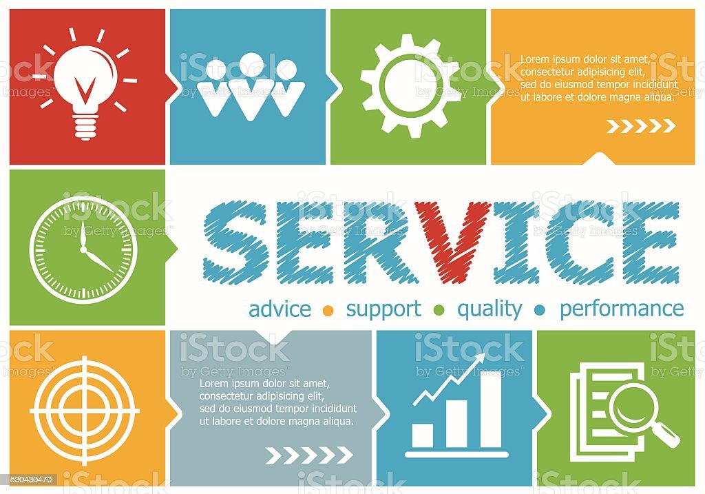 Service design illustration concepts for business, consulting, vector art illustration