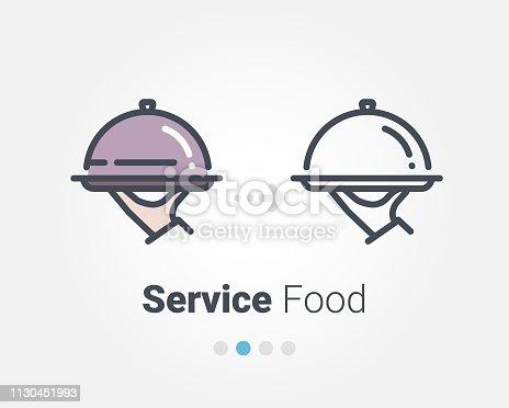 istock Service foods vector icon 1130451993