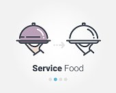 Service foods vector icon