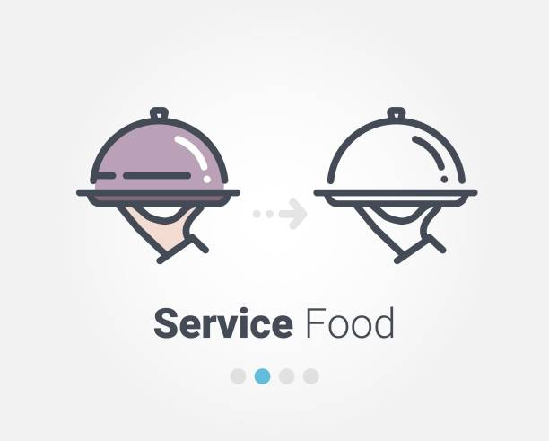service lebensmittel vektor icon - nahrungsmittelindustrie stock-grafiken, -clipart, -cartoons und -symbole