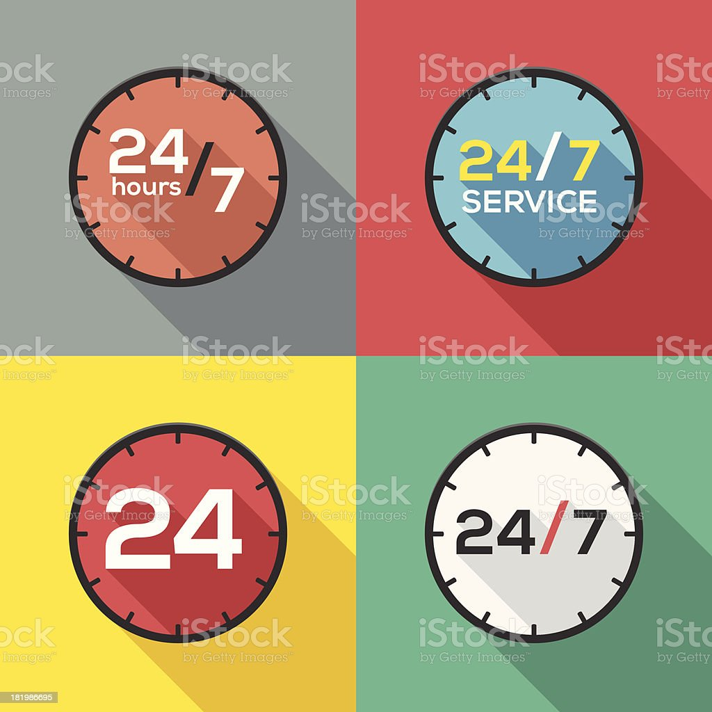 Service hours sign royalty-free stock vector art