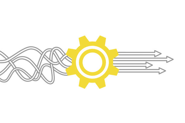 Service Solution Concepts with Gears Service Solution Concepts with Gears stability stock illustrations