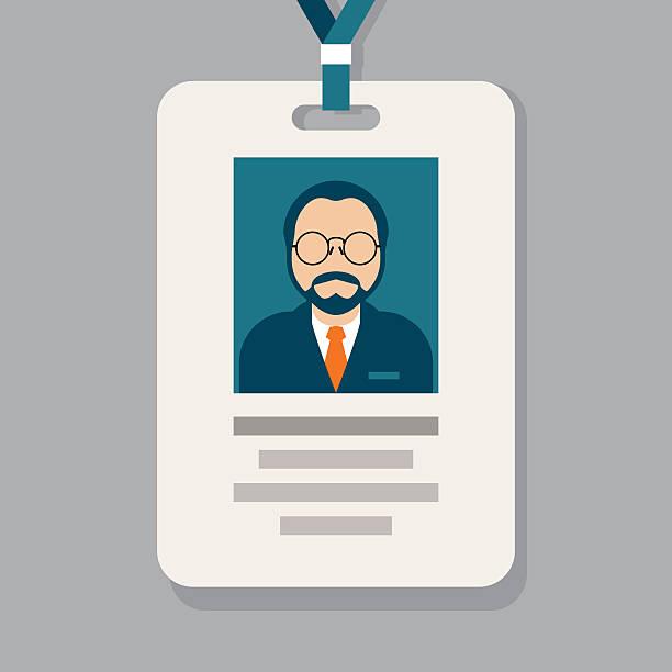 Service staff pass card - admission badge Service staff pass card - admission badge security pass stock illustrations