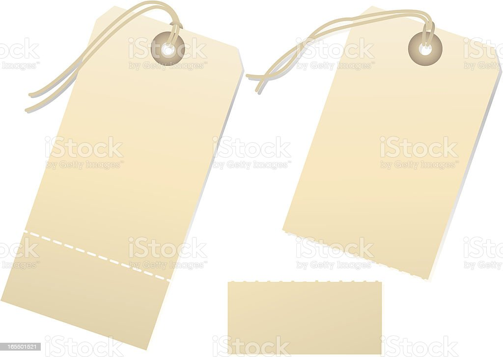 Service Tags Blank - Torn royalty-free stock vector art