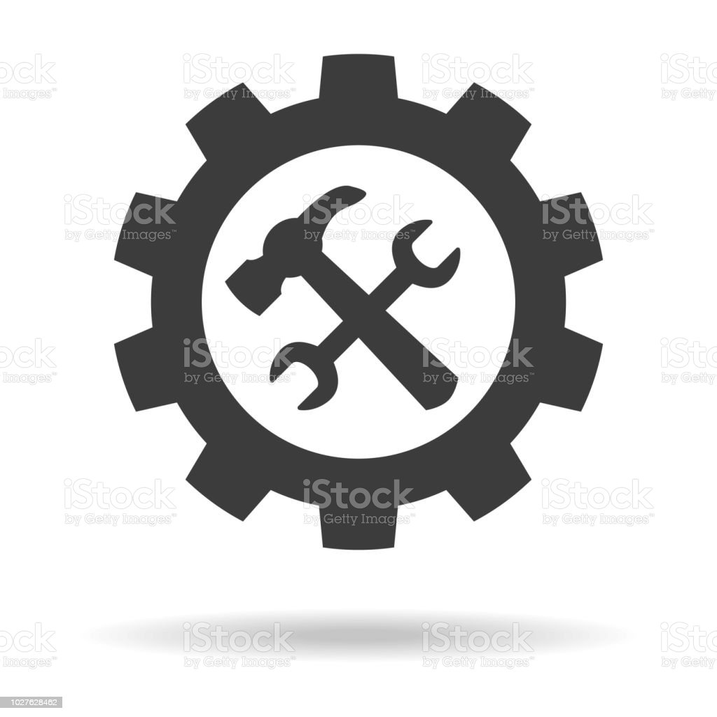 Service tool icon on white background. royalty-free service tool icon on white background stock illustration - download image now