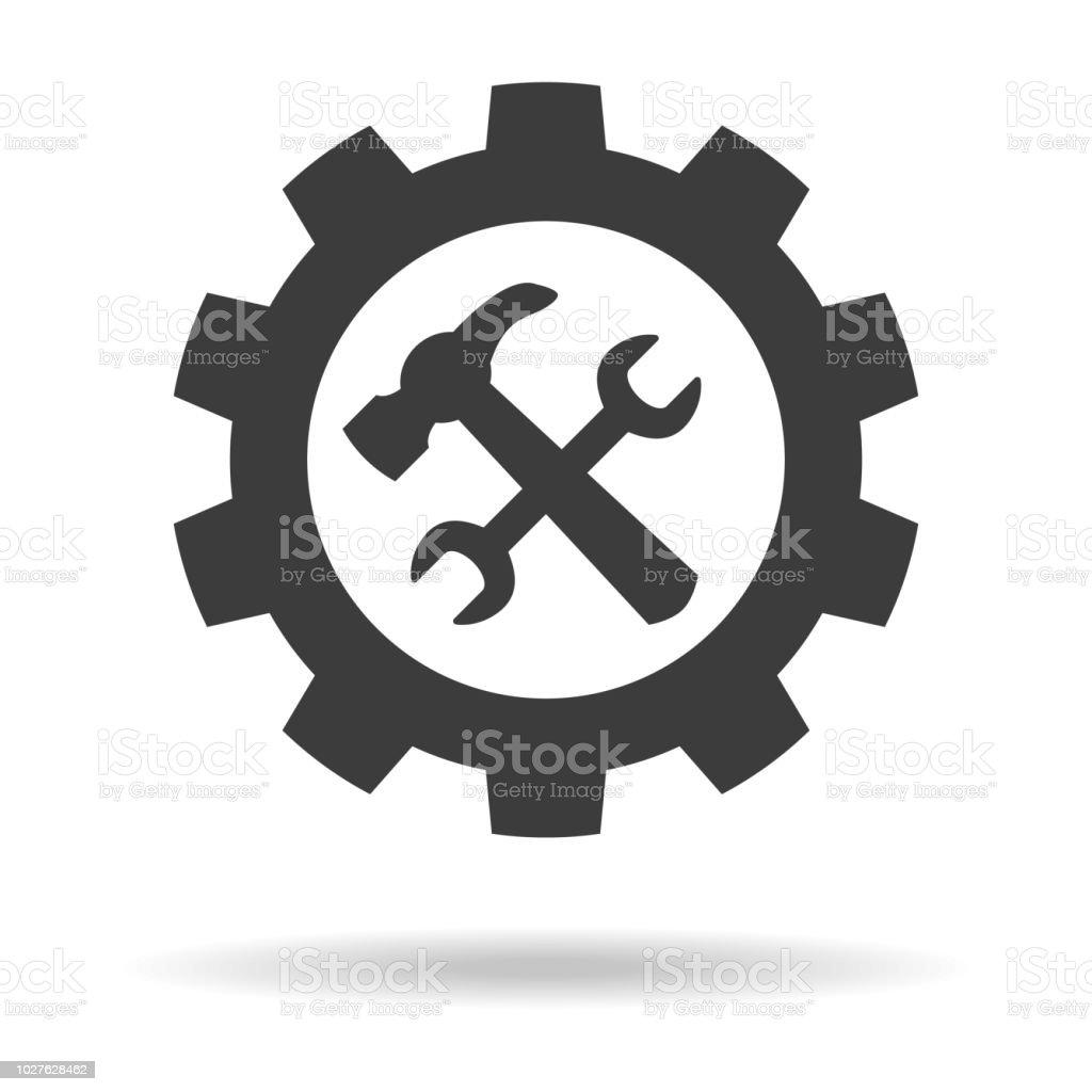 Icono de la herramienta de servicio en fondo blanco. - ilustración de arte vectorial