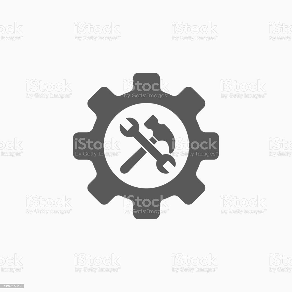 service tool icon - Royalty-free Badge stock vector
