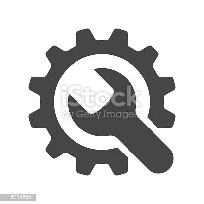 istock Service tools icon on white background. Vector illustration. 1150345341