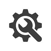 istock Service tools icon on white background. Vector illustration 1207692239