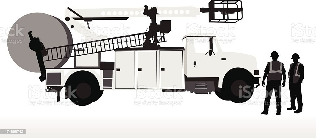 Service Truck vector art illustration