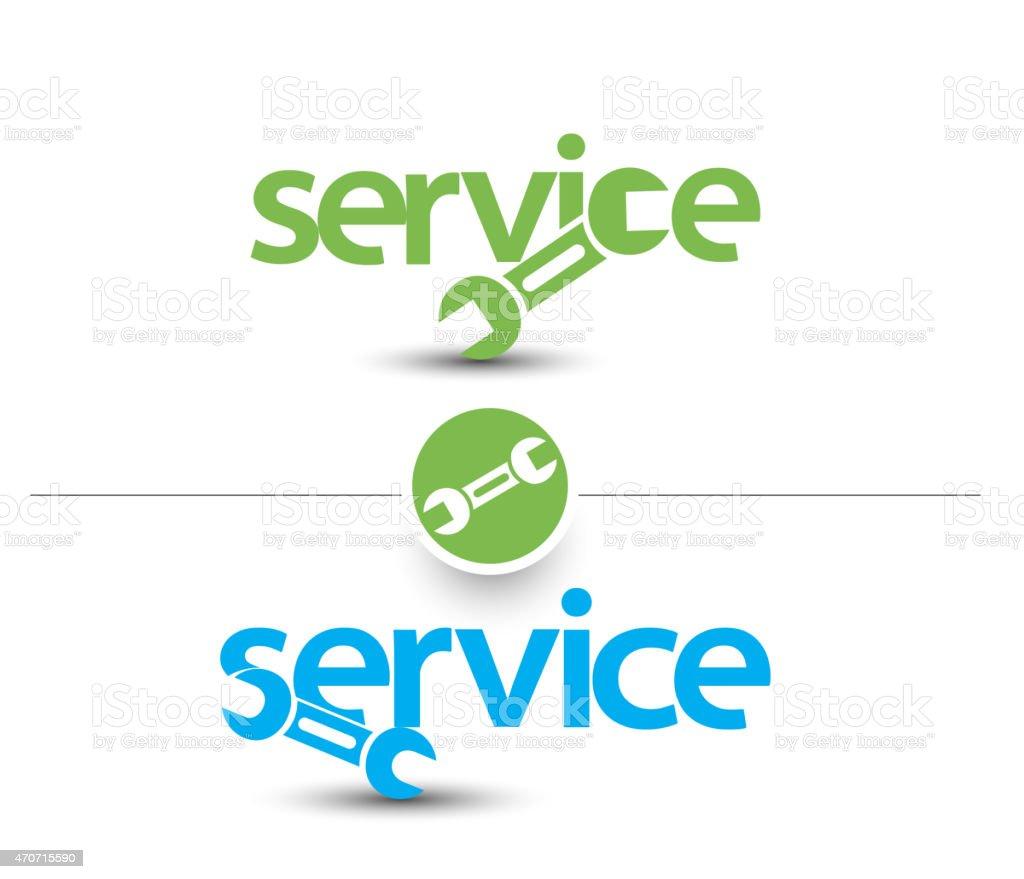 Service Web Icon vector art illustration